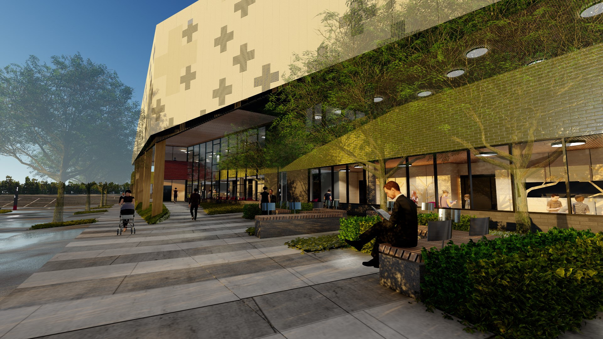 Barwon Health North 3D render BLP